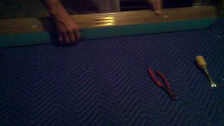 Pool Table - Replacing Rail Cushion Rubber Bumper - Part 1