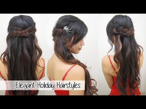 Elegant Braided Holiday Hairstyles l Cute & Easy Hairstyles
