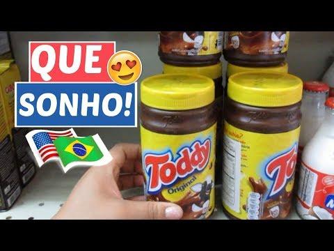 COMPRANDO ALIMENTOS BRASILEIROS NOS EUA 🍗🍇💸😍 | CHÁS TERMOGÊNICO DA ROSS