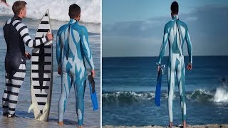 World First Anti-shark suit makes surfers