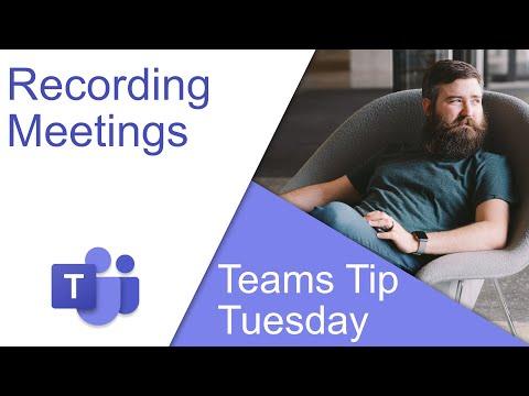 Recording Meetings - Microsoft Teams Tip Tuesday thumbnail