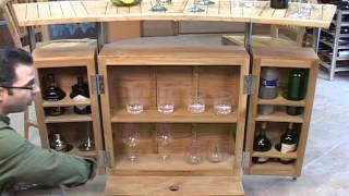 Indoor/outdoor Teak Bar