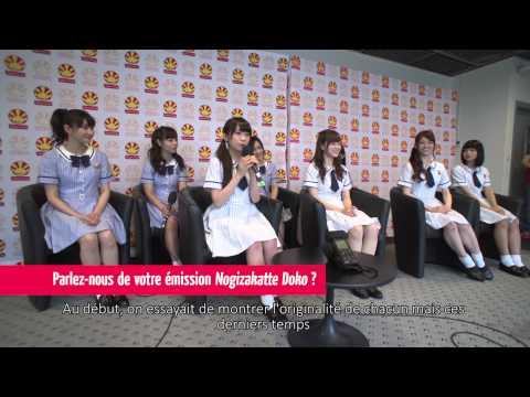 Nogizaka46 en interview à Japan Expo 15e Impact