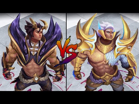 Obsidian Dragon Sett vs Prestige Edition Obsidian Dragon Sett Skin Comparison Spotlight