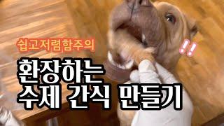 방부제 제로! 건강한 강아지 간식 만들기 (리큅건조기 …