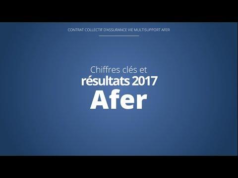 Les chiffres clés et résultats 2017 du contrat Afer
