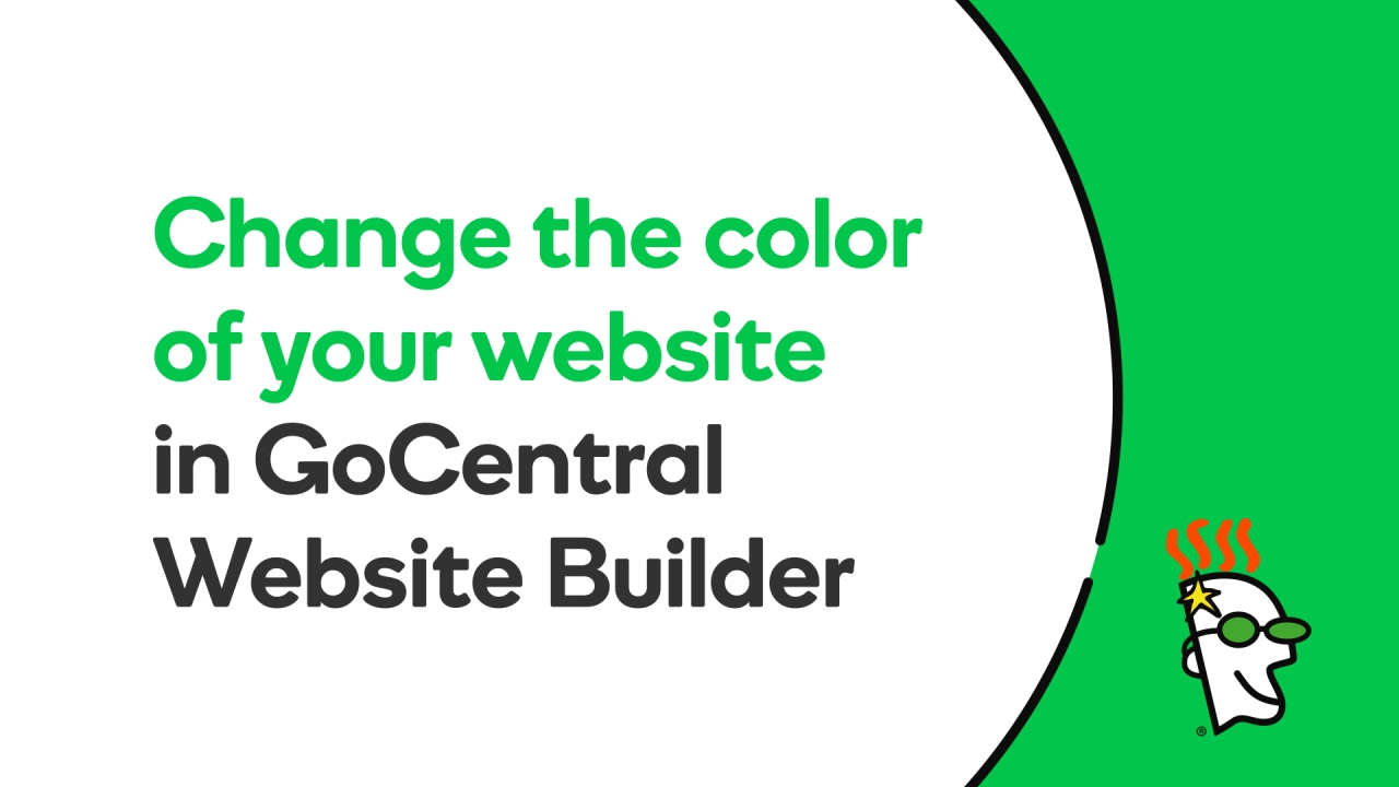 How to Change the Color on Your Website | GoDaddy GoCentral - YouTube