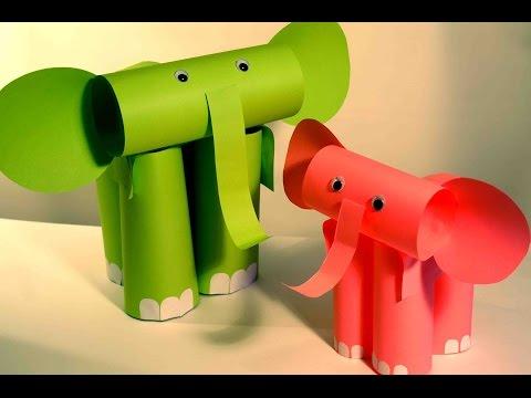 Слоник из бумаги своими руками