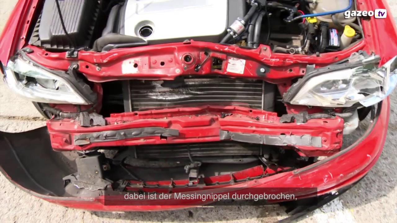 crashtest eines autos mit gasantrieb youtube