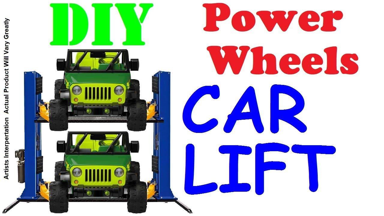 Etonnant DIY Power Wheels Car Lift (Garage Space Saver)