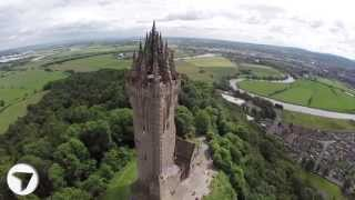 Wallace Monument, Stirling, Scotland ... Stunning Aerial View