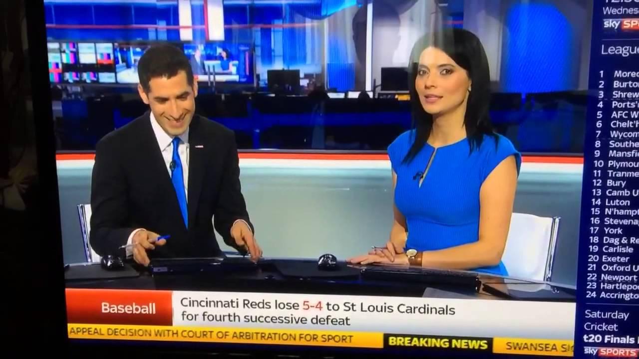Sky Sports slut Natalie Sawyer has some