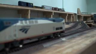"My CSX/NS HO Railroad Part 25 ""More Fascia and my Amtrak P42"""