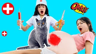 TRY NOT TO LAUGH 2020 - Funny Pregnancy Pranks | Funny Pranks and Life Hacks with Cat | Kiwi Funny