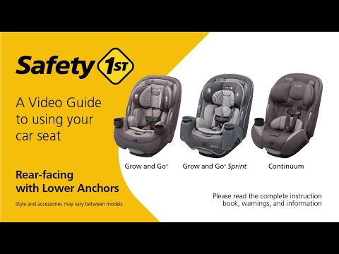 Rear Facing Car Seat With Lower Anchors, How To Install Safety 1st Car Seat Rear Facing With Belt