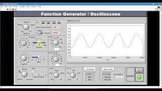 Function Generator and Oscilloscope in LabVIEW + VI to download
