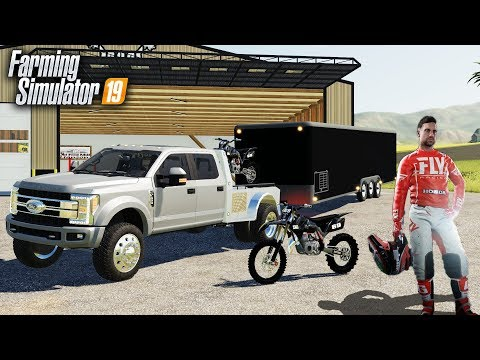 FS19- LOADING UP DIRTBIKES & RACING PROFESSIONAL MOTOCROSS (HONDA CRF 450) thumbnail