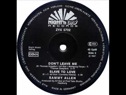Sammy Allen Slave To Love