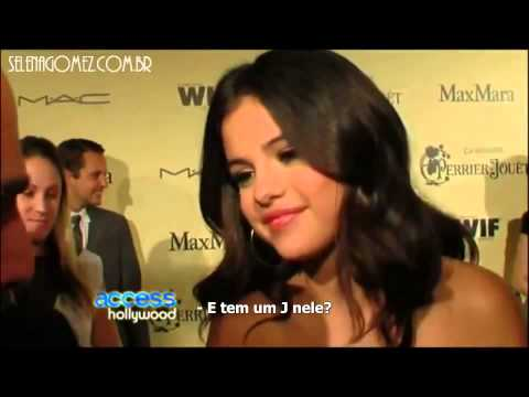 """Selena Gets asked about the """"J"""" ring (February 25, 2012)"""