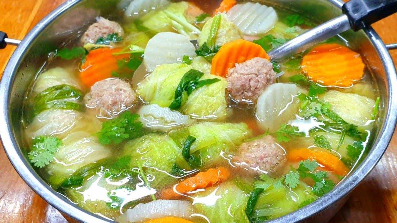 #ต้มจืดผักกาดขาวห่อหมูสับ น้ำซุปหอม หวานรสต้มผัก อร่อย รสกลมกล่อม เมนูของชอบ ของโปรดของเด็กๆ