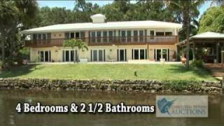 Waterfront Home Auction 3864 SE Old Saint Lucie Blvd. Stuart Florida Christenson Pittman Auctions