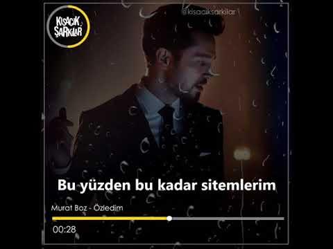 Whatsapp Durum su | Murat Boz - Özledim | 2019