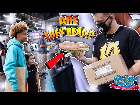 LIT LA SNEAKER CON VLOG (DAY 2)👟🔥    *YEEZY BUSTA SAYS MY YEEZYS ARE FAKE!?*