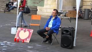 Rüdiger Lenz - Wem nützt Wahlboykott? - Mahnwache [7.7.2014] für den Frieden in Braunschweig (2/3)