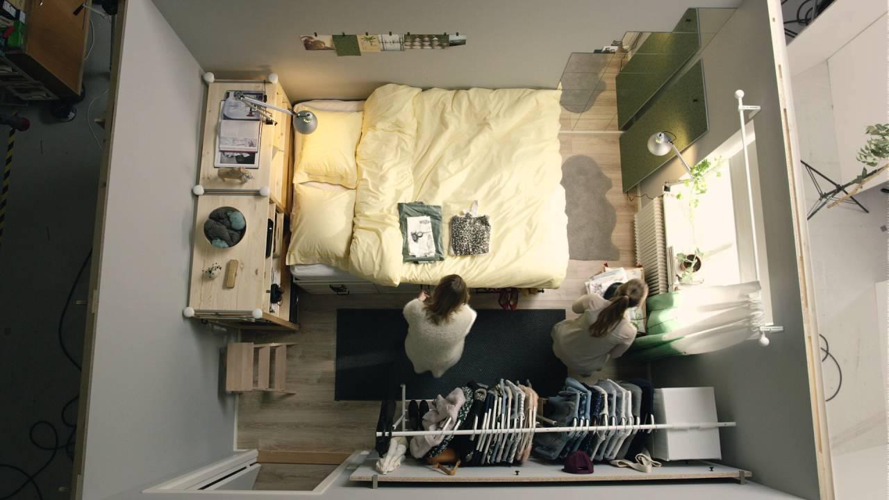 Ikea - Quadratmeterchallenge: Winziges Schlafzimmer Für Zwei - Youtube