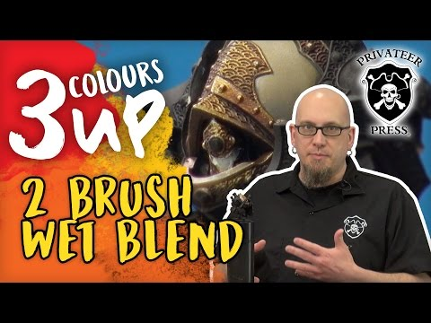 3CU: Dallas Two Brush Wet Blending Miniature Painting Tutorial