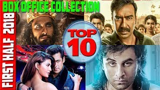 Top 10 Bollywood Movies 2018 | Classifications First Half Box Office Collection| by Sardar barometer