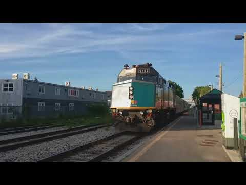 Our ride home - VIA Rail #87 arrives in Kitchener, Ontario on June 15th, 2018