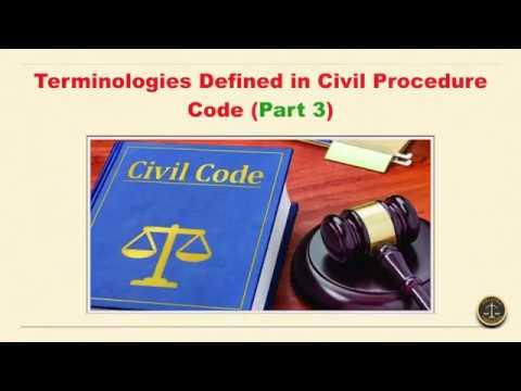 Terminologies Defined in Civil Procedure Code (Part3)