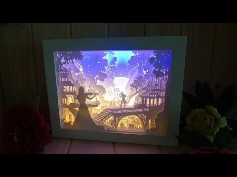 [DIY] Paper-cut Light Box : have SOMETHING going on  │  페이퍼커팅 무드등 : 썸