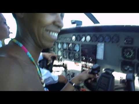 Flying the plane in Belize