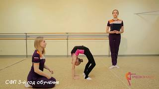 Эстетическая гимнастика для детей / Нормативы СФП для 3-го года обучения.
