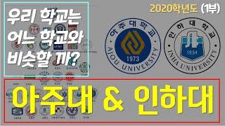 [아주대 인하대] 우리학교 어느대학과 비슷할까? 202…