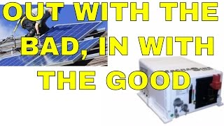 Installing the high voltage into the solar breaker panel for the magnum 4400 watt / 48 volt inverter