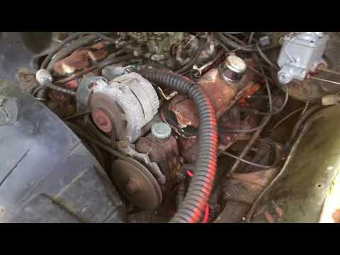 Old video - Ratty Muscle Lemans Pontiac 350 Engine Sort of Runs!