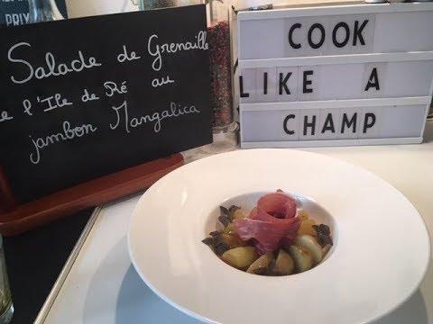 salade-de-grenailles-de-l'ile-de-ré-et-jambon-mangalica