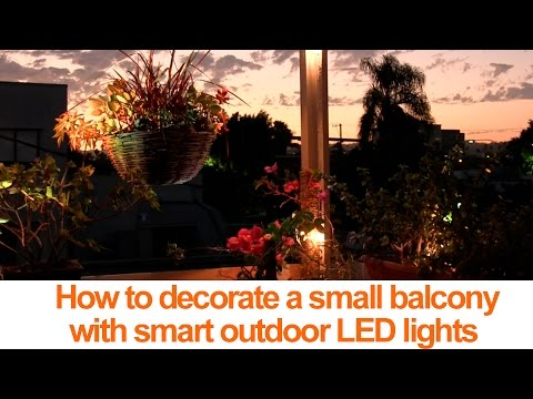How to decorate a small balcony with smart led lights - How to decorate balcony ...