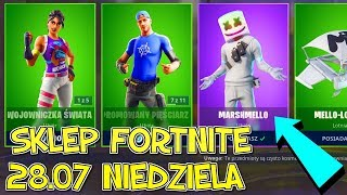FORTNITE 28.07 STORE-Skin World Cup 2019, Marshmello, Mello-hambs, Kiss Cup, mouvements lisses