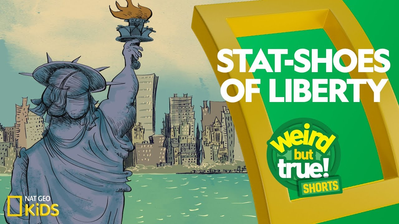 Stat-Shoes of Liberty | Weird But True! Shorts