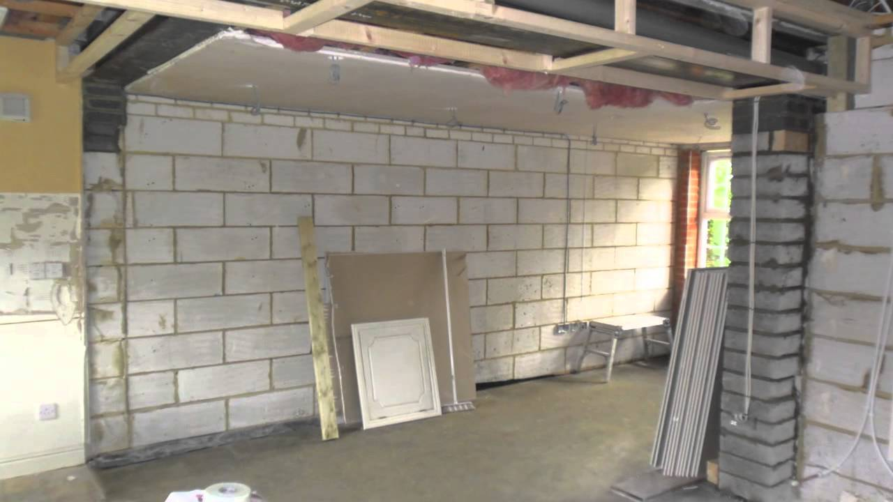 Garage Conversion To extend kitchen Wootton Fields Northamptonshire  YouTube