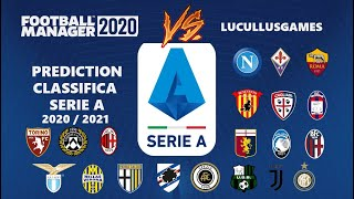 Sfido il software: la mia previsione sulla classifica finale della serie a contro prediction elaborata da football manager 2020.il canale twitch: https://...
