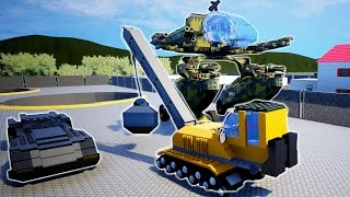 WRECKING BALL vs MECHWARRIOR, BATMOBILE, AND BUILDINGS! - Brick Rigs Workshop Creations - Gameplay