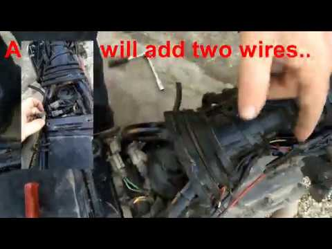 Install a replacement kill switch 1995 Suzuki DR650 motorcycle DIY