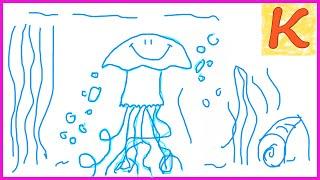 How to draw a jellyfish / Как нарисовать медузу
