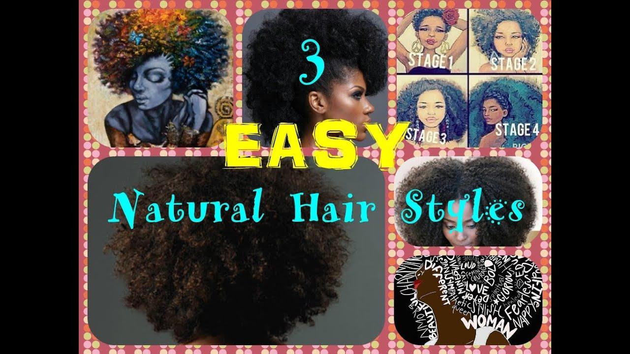 3 Easy Natural Hair Styles Short Hair Medium Length
