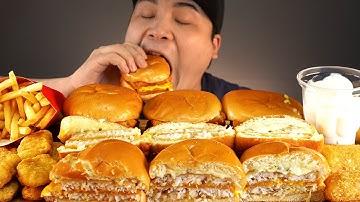 맥도날드 신메뉴 더블필레오피쉬버거외 사이드메뉴 먹방~!! 리얼사운드 ASMR social eating Mukbang(Eating Show)